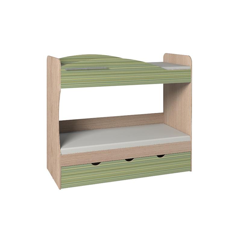 Калейдоскоп Кровать 6 + ФАСАД Радуга зеленая
