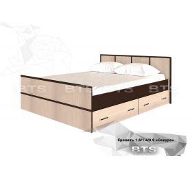 """""""Сакура"""" Кровать 1.4м «Сакура»"""