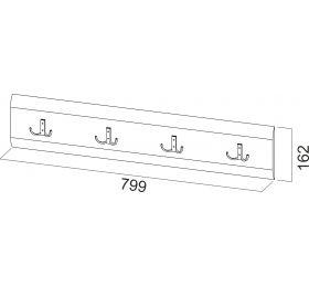 Модульная система №1 Планка с крючками 1,2м.