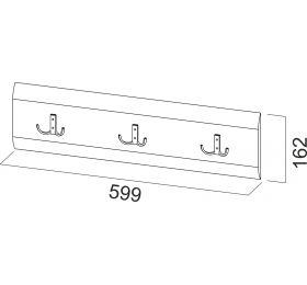 Модульная система №1 Планка с крючками 1,0м.