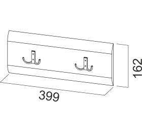 Модульная система №1 Планка с крючками 0,8м.