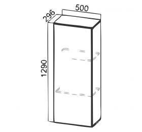 """""""Лофт"""" SV-Мебель ПН500 к шкафу Н720 (296)"""