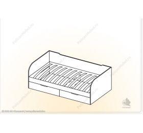 """""""Забава"""" Кровать с ящ. «Забава» КЯ"""