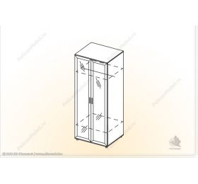 """""""Классика"""" Шкаф 2х с зеркалом «Классика» ШУ-Z"""
